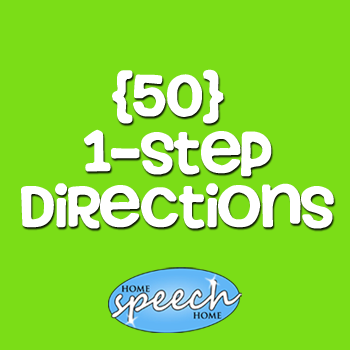 (50) 1 Step Directions for Speech Therapy Practice