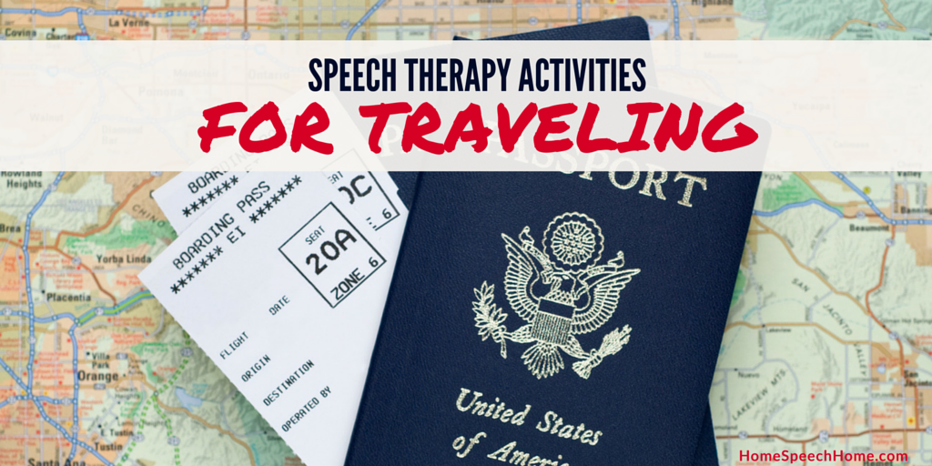 Speech Therapy Activities for Traveling