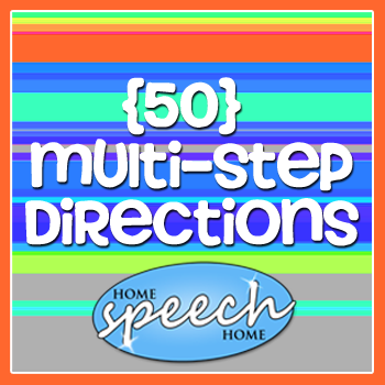 50 Multi-Step Directions for Speech Therapy Practice