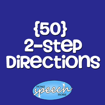 (50) 2 Step Directions for Speech Therapy Practice