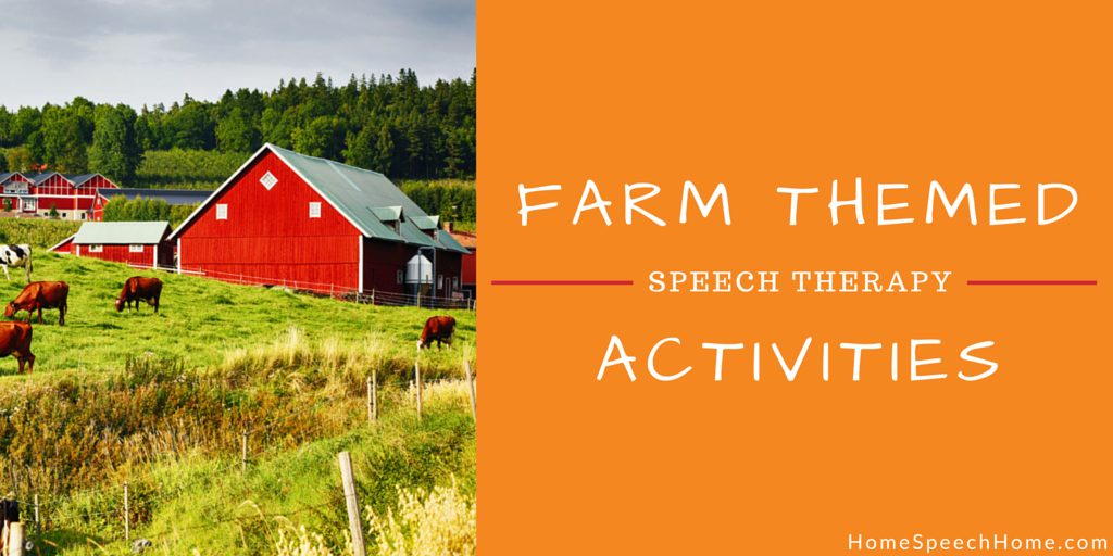 Farm Themed Speech Therapy Activites