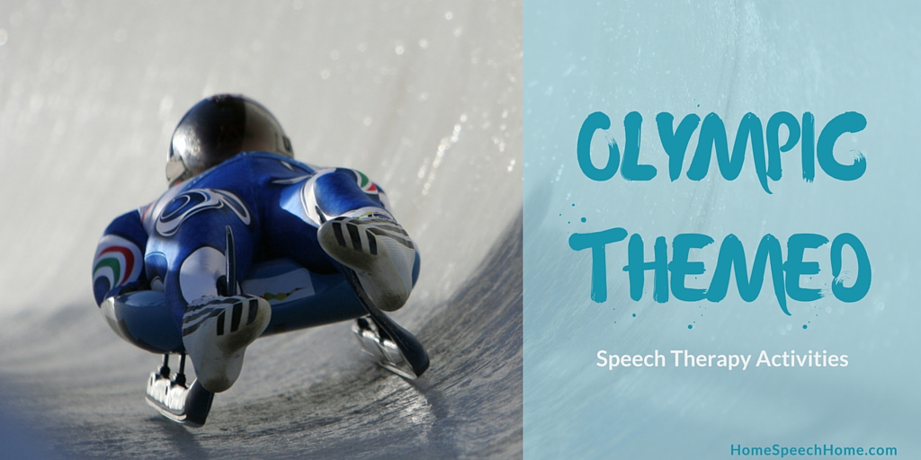 Olympic Themed Speech Therapy Activities