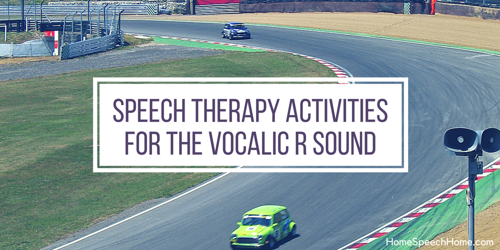 speech therapy activities for vocalic r sound