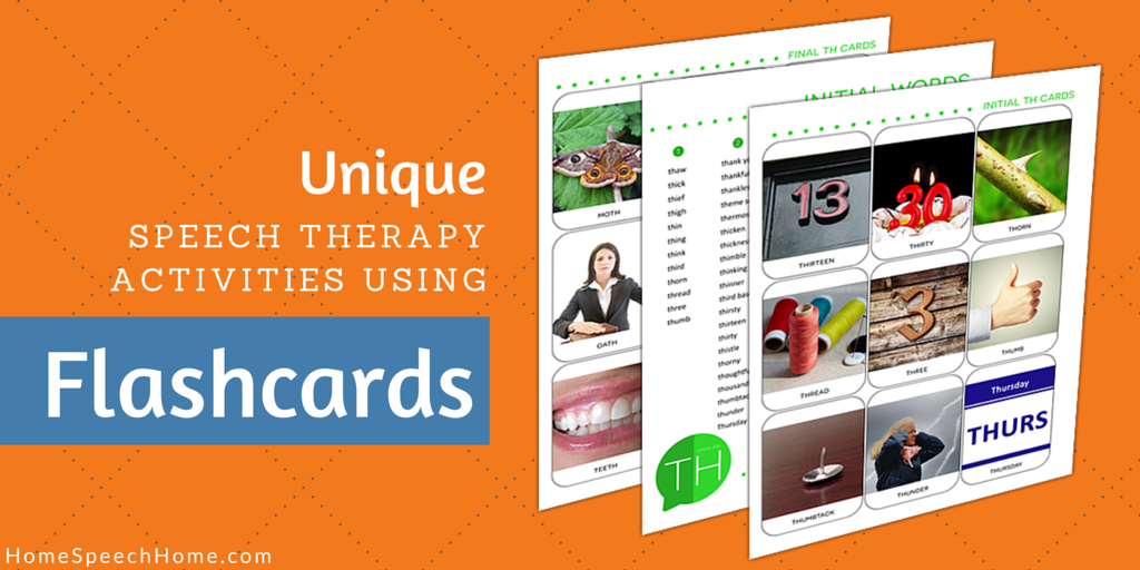Speech Therapy Activities Using Flashcards