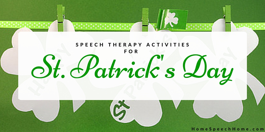 Speech Therapy Activities for St. Patrick's Day
