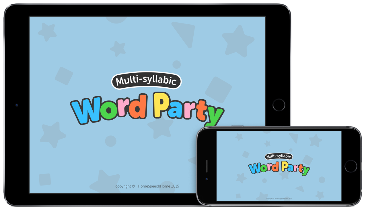 Multi-syllabic Word Party App