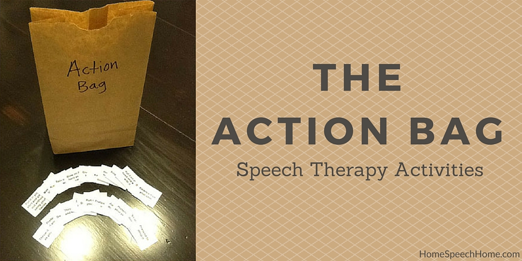 The Action Bag Speech Therapy Activity