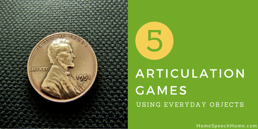 5 articulation games using everyday objects