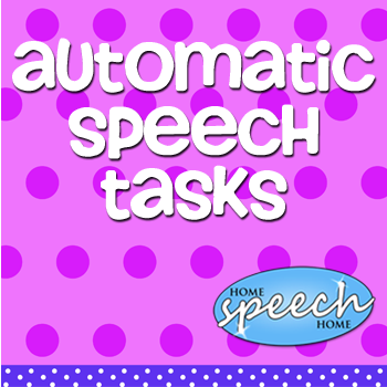 Automatic Speech Tasks for Speech Therapy Practice