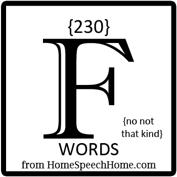 230+ F Words, Phrases, Sentences, and Reading Passages