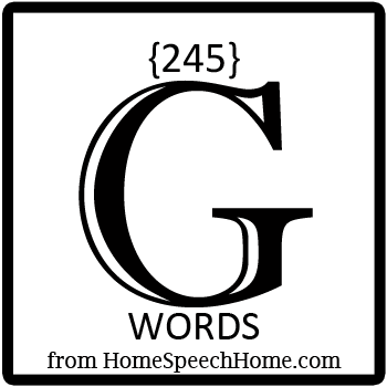 245+ G Words, Phrases, Sentences, and Reading Passages