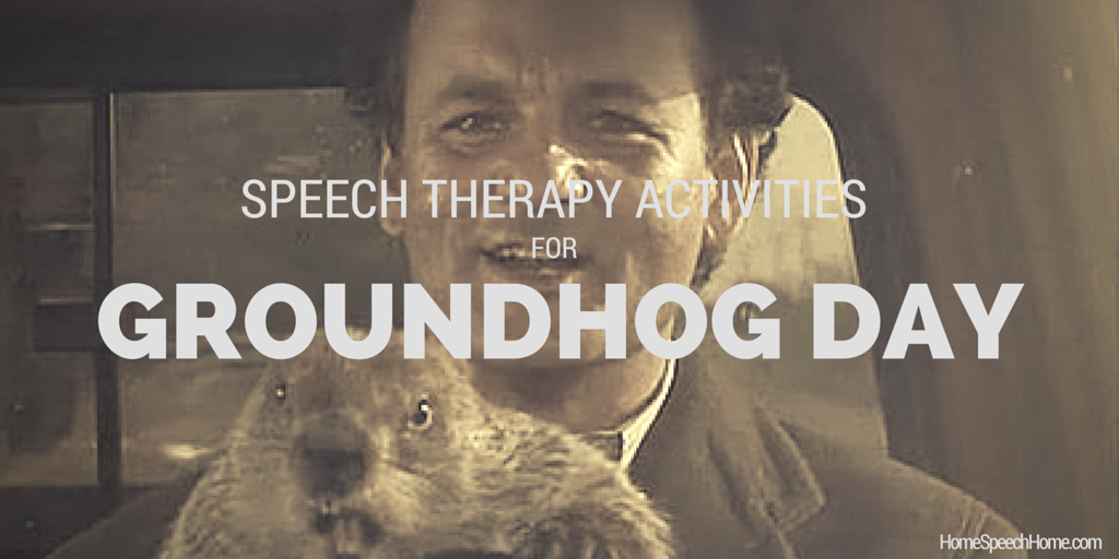 Speech Therapy Activities for Groundhog Day