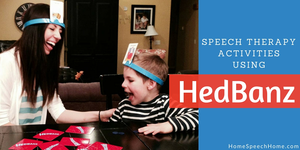 Speech therapy activities