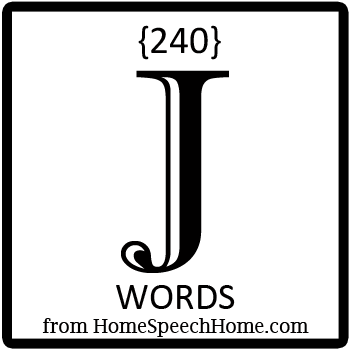 240+ J Words, Phrases, Sentences, and Reading Passages