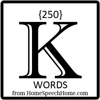 250+ K Words, Phrases, Sentences, and Reading Passages