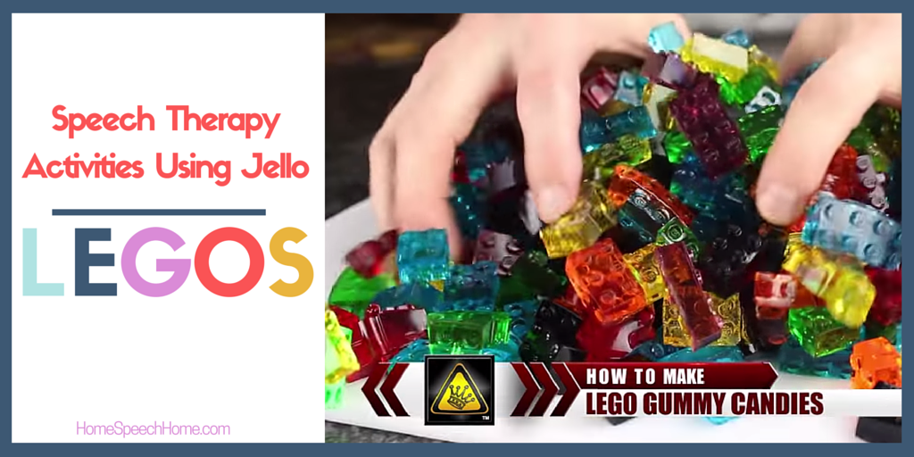 Speech Therapy Activities Using Jello Legos