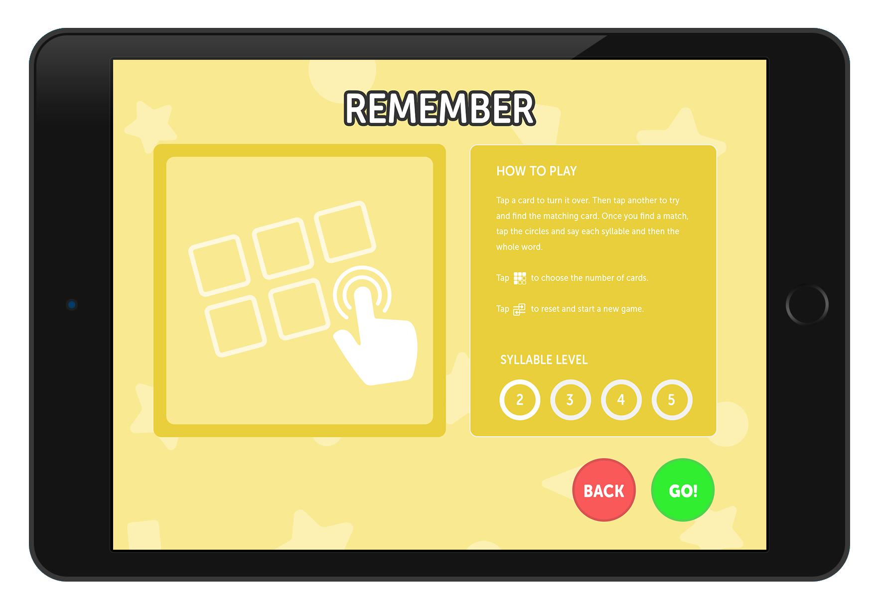 Multi-syllabic Word Party App