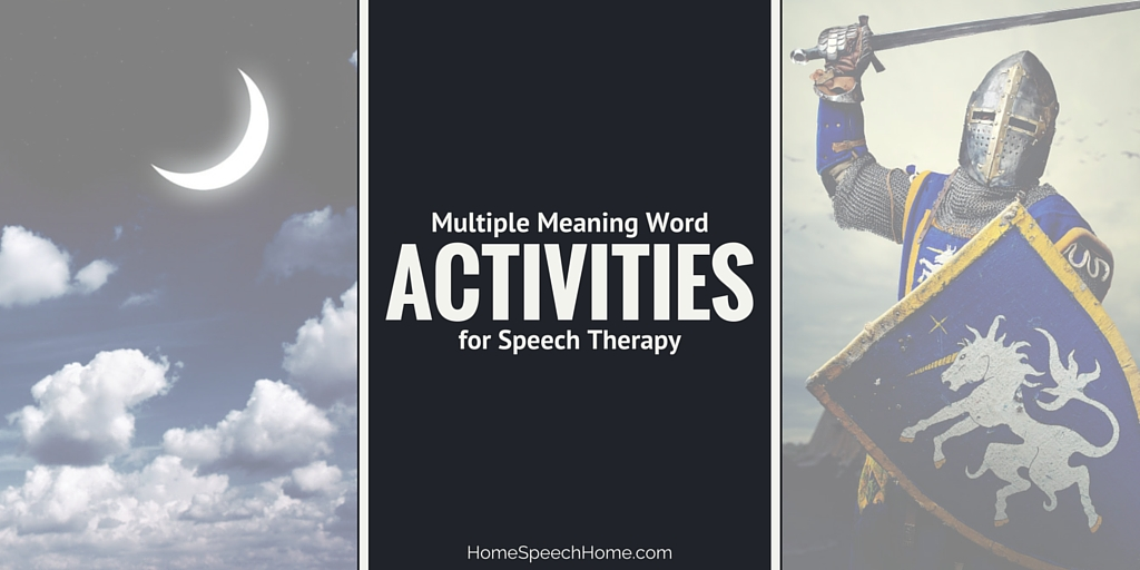 4 Multiple Meaning Word Activities for Speech Therapy