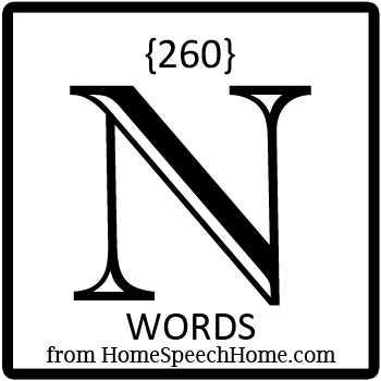 260+ N Words, Phrases, Sentences, and Reading Passages