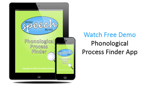 Phonological Process Finder App for iPad & iPhone