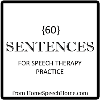 60 Speech Therapy Sentences forSpeech Therapy Practice