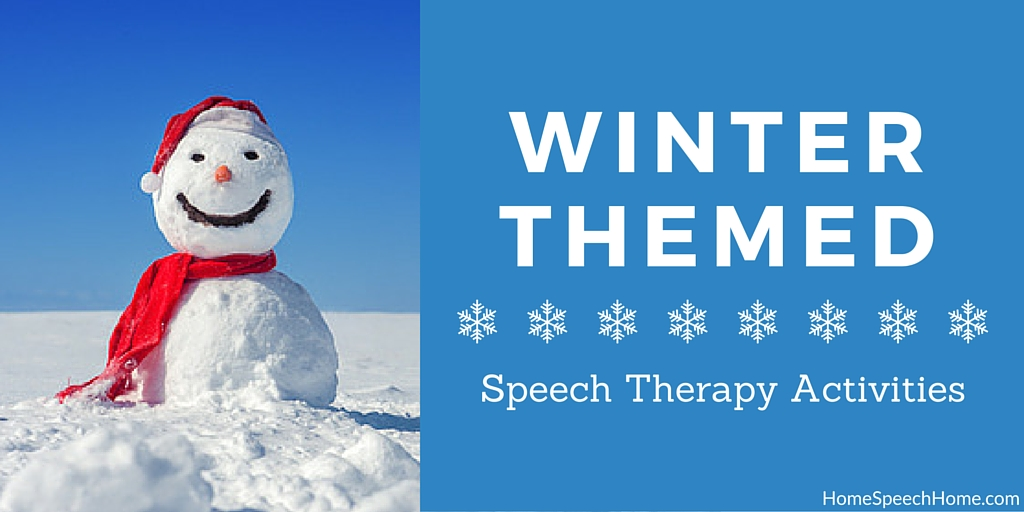 Winter-themed Speech Therapy Activities