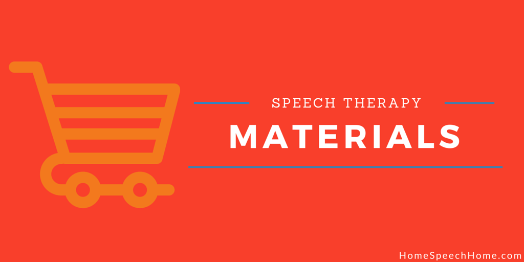 Simplified Speech Therapy Materials To Use At Home
