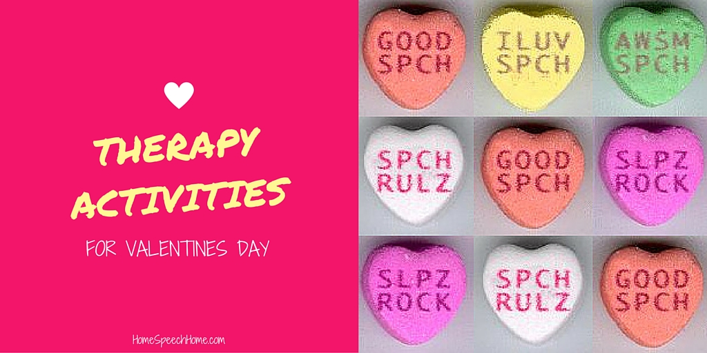 Speech Therapy Activities for Valentine's Day