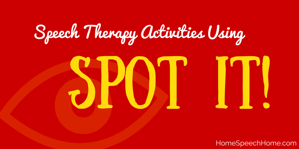 Speech Therapy Activities Using Spot It!