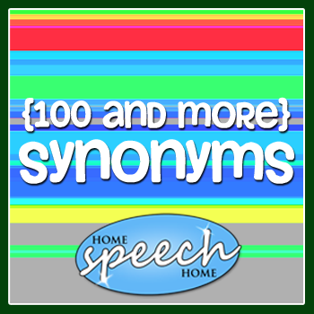 100 synonyms for speech therapy practice