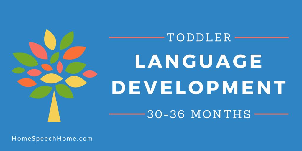 Language Development in Toddlers 30-36 Months My Favorite Developmental Stage