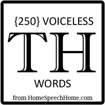 250+ Voiceless TH Words, Phrases, Sentences, and Reading Passages