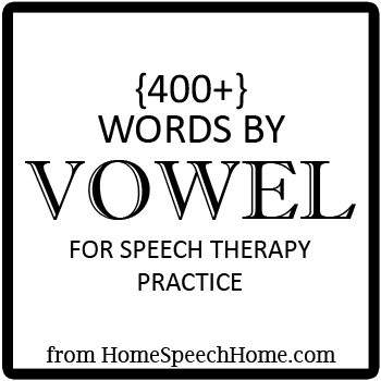 400 Vowels For Speech Therapy Practice