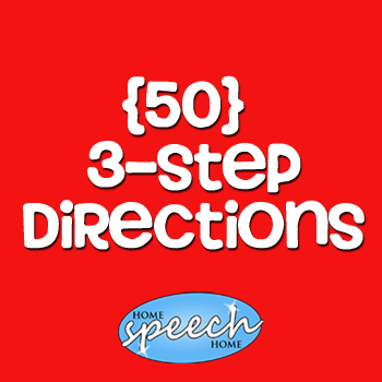 (50) 3 Step Directions for Speech Therapy Practice