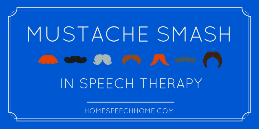 Using Mustache Smash in Speech Therapy