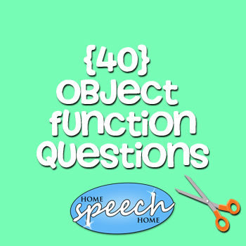 40 Object Function Questions for Speech Therapy Practice
