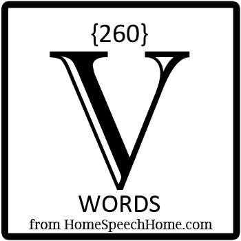 260+ V Words, Phrases, Sentences, and Reading Passages
