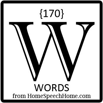 170+ W Words, Phrases, Sentences, and Reading Passages
