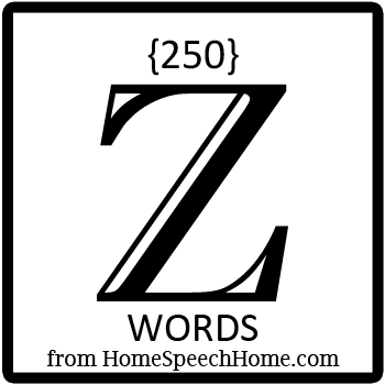 250+ Z Words, Phrases, Sentences, and Reading Passages